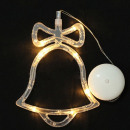 Decorating christmas bell, led, 19 cm, for indoor,