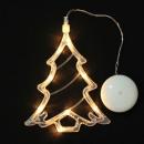 Decorative Christmas tree charm, led, 19cm, white