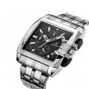 mayorista Relojes: Reloj deportivo para hombres, cuarzo, metalizado,