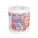 Hygienic paper print banknote 1000 lire, roll 10 c