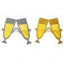 grossiste Déguisements et costumes: Verres de fête verres à champagne avec des paillet