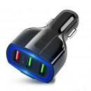 wholesale USB-Accessories: Car cigarette lighter adapter 3 usb ports, qc 3.0,