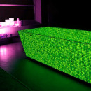 Green phosphorescent mosaic for glow in the dark,