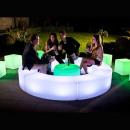 Modular led sofa, illuminated rgb, remote control,