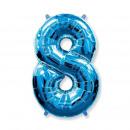 wholesale Figures & Sculptures: Balloon foil large figure, metallic blue, 46 cm, f