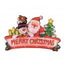 Decoration mesh christmas window, 20 white bulbs,