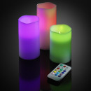 nagyker Otthon és dekoráció: 12 színes LED-es világító gyertya, távirányító, ti