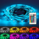 wholesale Lampes: Rgb 12v led flexible tape 5 m long, ip65, with rem