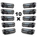wholesale Printers & Accessories: Set 10 bulk compatible toners q2612a for hp 12a