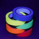 Neon fluorescent textile tape, adhesive, roll 25 m