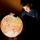 wholesale Children's Furniture: Illuminated geographical globe 32 cm, political ma