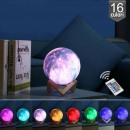 wholesale Computer & Telecommunications: 3d moon lamp 15 cm, usb charging, 16 colors, remot
