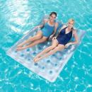 wholesale Travel Accessories: Double inflatable mattress, 2 air chambers, handle