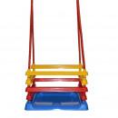 grossiste Jeux de jardin: Balançoire pour enfants, 4 côtés, cordes 110 cm, 3