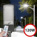 grossiste Electronique de divertissement: Éclairage public solaire 120 leds 120w, panneau so