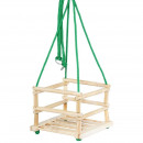 wholesale Garden playground equipment: Swing for children, wooden frame with 4 ...