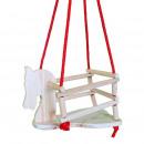 hurtownia Zabawki ogrodowe: Huśtawka kucykowa z pełnego drewna, solidne liny n