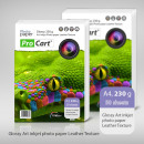 wholesale Printers & Accessories: Photo paper with glossy leather texture format a4