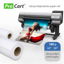 wholesale Printers & Accessories: High glossy photo paper roll for plotter 180 g 24