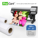 wholesale Printers & Accessories: Roll photo glossy cotton canvas, 360g length 30 m