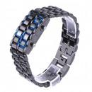 wholesale Watches: Men's light lava man-made samurai watch for dark-b