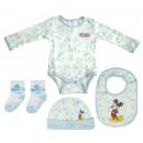 groothandel Licentie artikelen: 4-delige babyset Mickey Muis