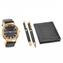 wholesale Jewelry & Watches: Pierre Cardin Gift Set Clock & Purse & Bal