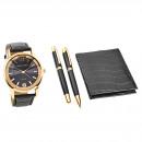 Großhandel Schmuck & Uhren: Pierre Cardin Geschenk Set Uhr & Geldbörse & Kugel