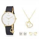 Großhandel Schmuck & Uhren: Pierre Cardin Geschenk Set Uhr & Halskette & Ohrri