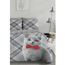 wholesale Bedlinen & Mattresses: DC cat with bowtie, 200X200 / 220