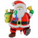 Balon foliowy w kształcie Świętego Mikołaja