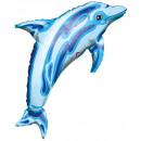 Balon foliowy niebieski delfin
