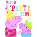 nagyker Üdvözlőkártyák: Peppa Pig - 6 meghívó borítékkal