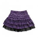 wholesale Skirts: 16013-005 LD Leopard Skirt - purple