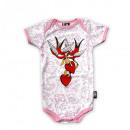 grossiste Vetements enfant et bebe: Six Bunnies Baby Girl Love Body
