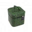 Großhandel Reiseartikel: Grüne Leopard Kosmetik Handtasche