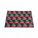 wholesale Bath & Towelling: Bath mat in black with scull cherries