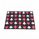 wholesale Bath & Towelling: Bath mat in black with playing cards pattern