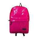 Backpack in pink vinyl