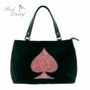 Bag with embroidery with a red pic