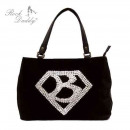 Bag with embroidery with a diamand and a