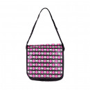 wholesale Figures & Sculptures: Bag in black with red diamond pattern and white