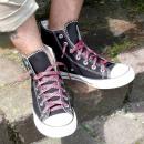 grossiste Chaussure accessoires: Lacets en Karo Noir / Rouge
