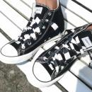 Großhandel Schuhzubehör: Schwarz Weiß Gestreifte Schnürsenkel
