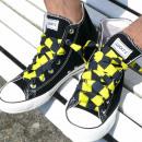Großhandel Schuhzubehör: Schwarz Gelb Gestreifte Schnürsenkel
