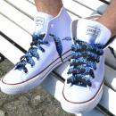 Großhandel Schuhzubehör: Blaue Flamme Schnürsenkel