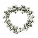 Bracelet in silver with bone
