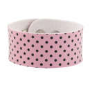 Bracelet in pink with black dots