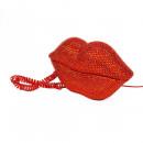 wholesale Telephone: Lips phone rhinestone in red
