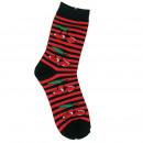Großhandel Strümpfe & Socken: Gestreifte Kirschen Socken